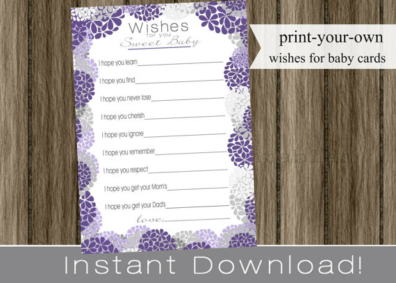 Wishes for baby card! Cute. $6.00, via Etsy.