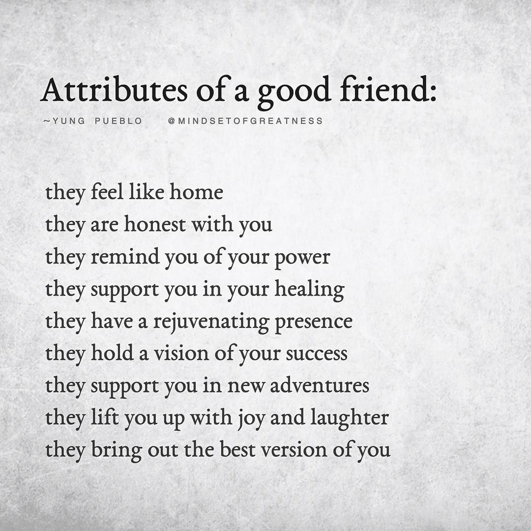 Wonderful Definition Of A Good Friend By Yung Pueblo Sharing Is