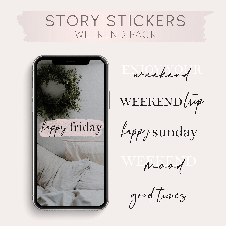 Story Sticker English Instagram Story Sticker Weekend Etsy In 2020 Instagram Story Instagram Story Ideas Instagram