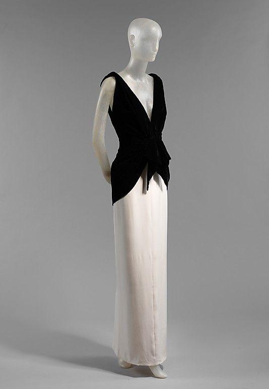 Dress Evening Yves Saint Laurent Paris French Founded 1962 Designer Yves Saint Laurent French Born Algeria Fashion Vintage Fashion Evening Dresses