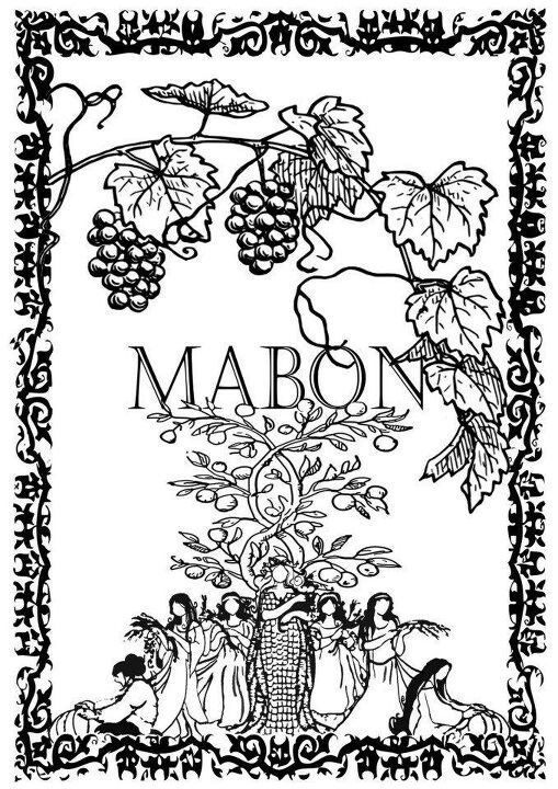 Mabon Crafts With Kids Witch Coloring Pages Mabon Book Of Shadow