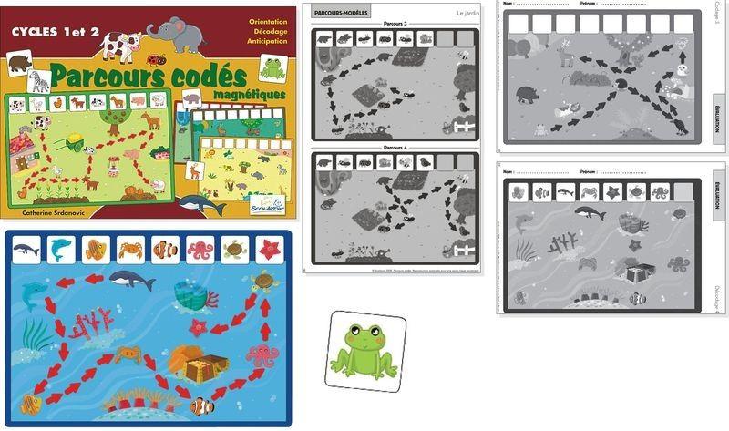 Suivre un parcours cod s ou coder un parcours maternelle - Parcours du combattant jeu ...