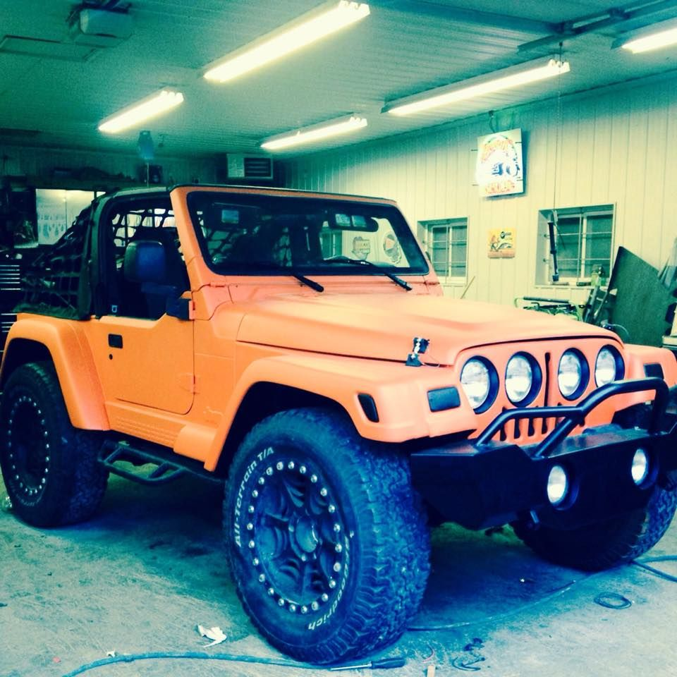 Jeep Wrangler Tj With Grille Mod Dream Cars Jeep Jeep Wrangler Tj Wrangler Tj