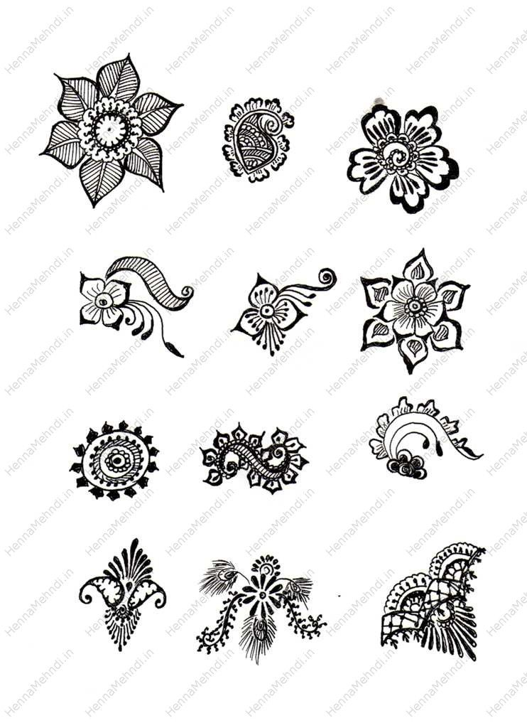 Simple Mehndi Designs for Beginners Printable Henna Designs