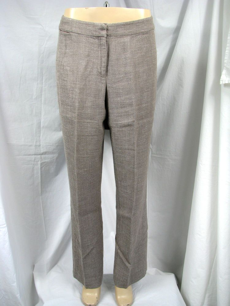 7a6b1d9eefa Womens Eileen Fisher Gray Linen Blend Straight Legs Pants Sz S  fashion   clothing  shoes  accessories  womensclothing  leggings (ebay link)