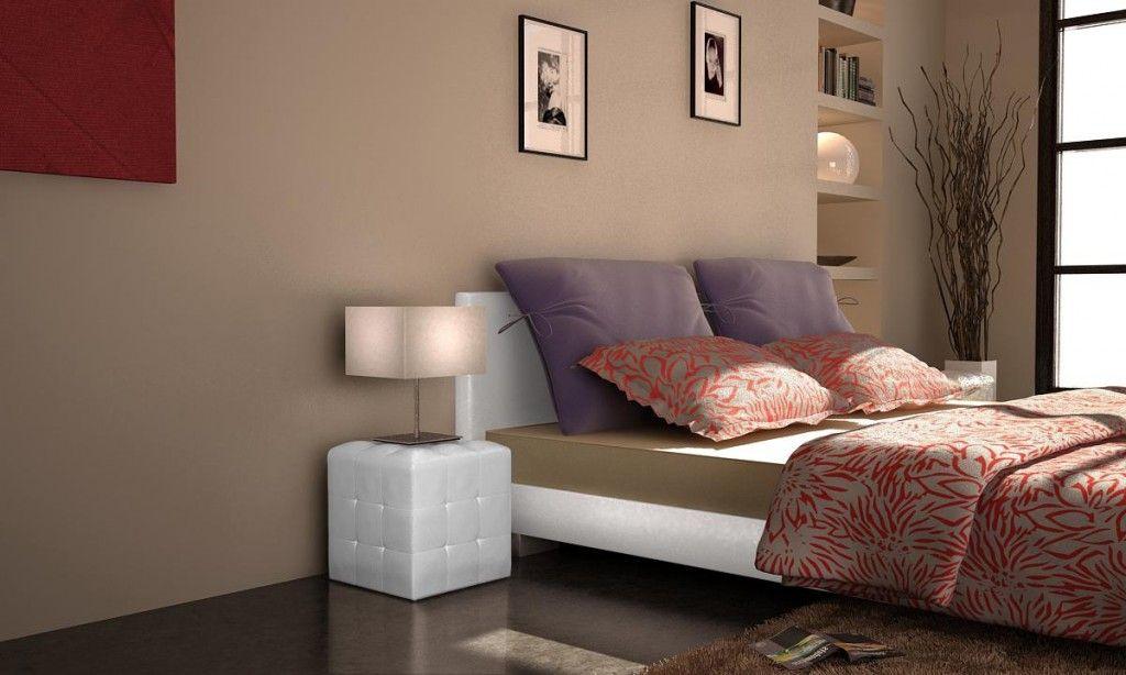 Lot de 2 cubes simili cuir capitonné blanc ou noir table chevet de lit bout de canapé pouf