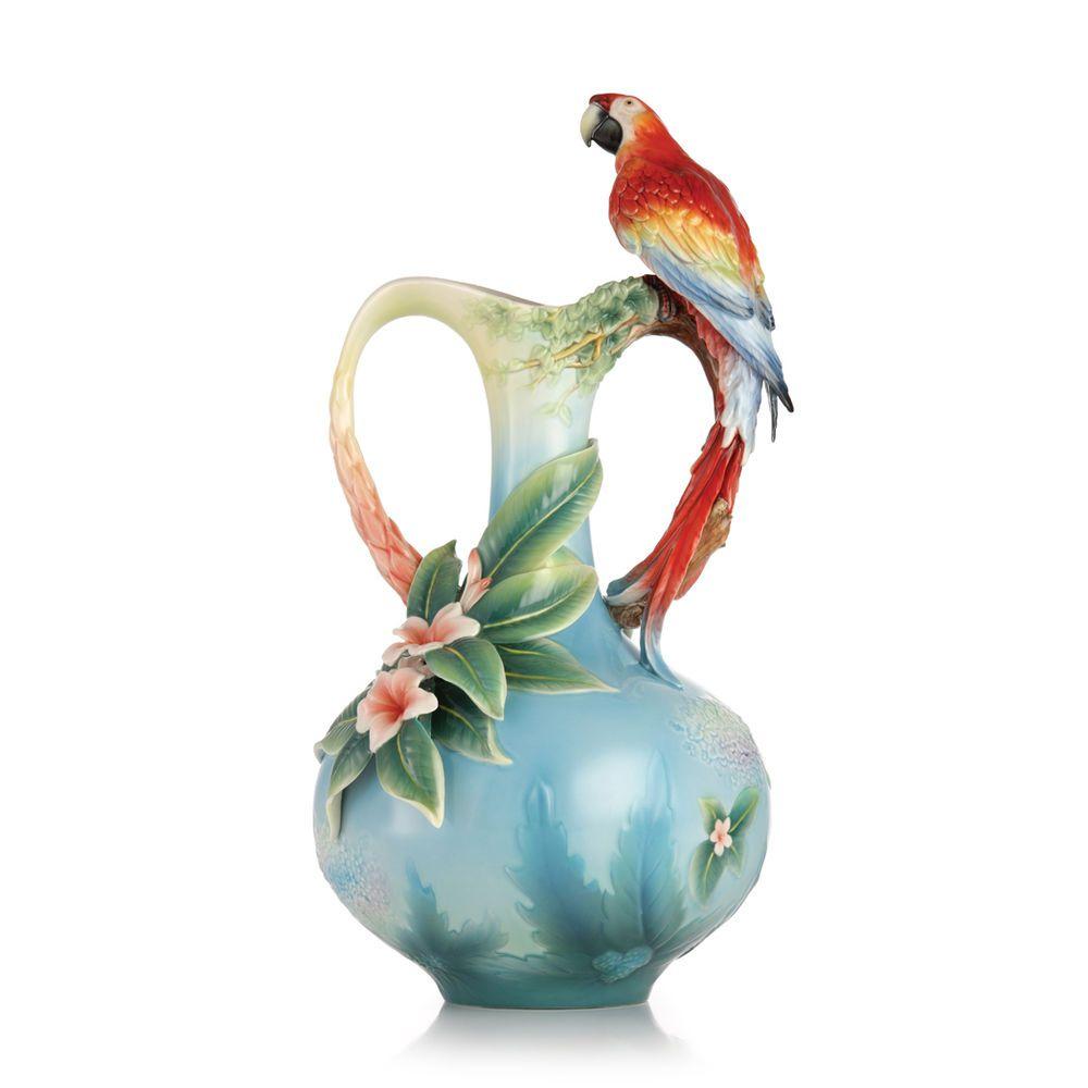 Franz porcelain scarlet macaw parrot vase factory new porcelain porcelain reviewsmspy