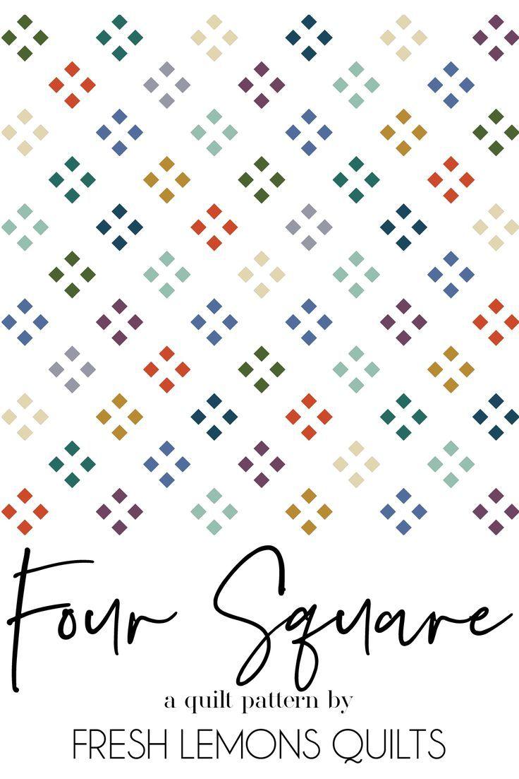 Four Square Quilt Pattern - PDF