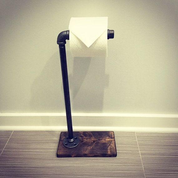 Industrial Rustic Modern Toilet Paper StandTP Stand Standing