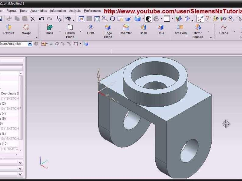 Siemens Nx CAD Basic Modeling Training Tutorial for Beginner
