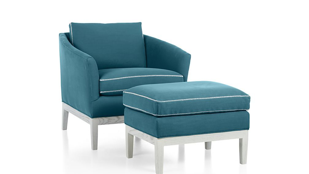Amelia Chair - Teal | Crate and Barrel