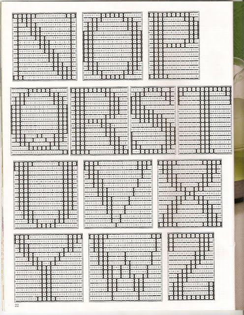 Grafico De Alfabeto Em Ponto Oitinho Ponto Oitinho Vagonite
