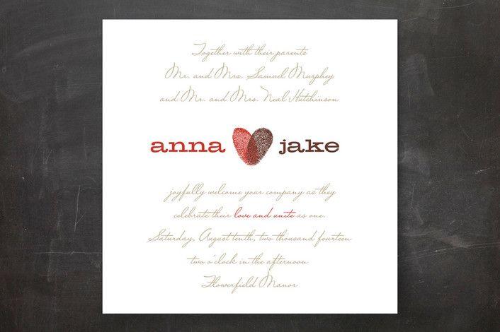 Wedding invitations with heart Wedding Wedding and Fairytale weddings