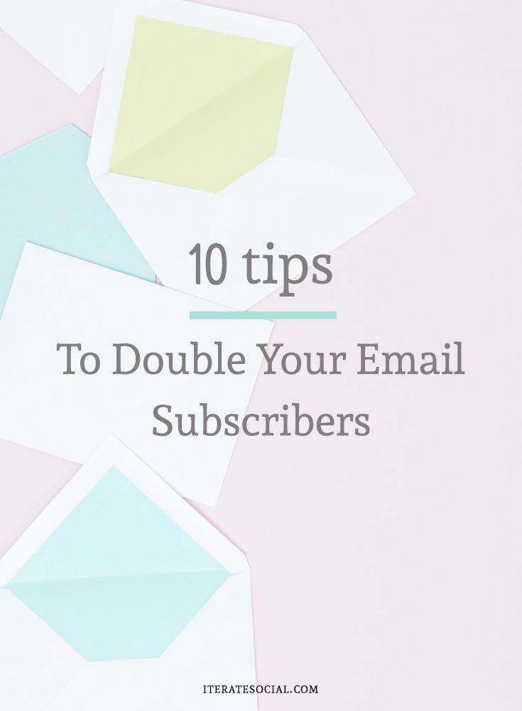 Double your email subscribers in just two weeks.