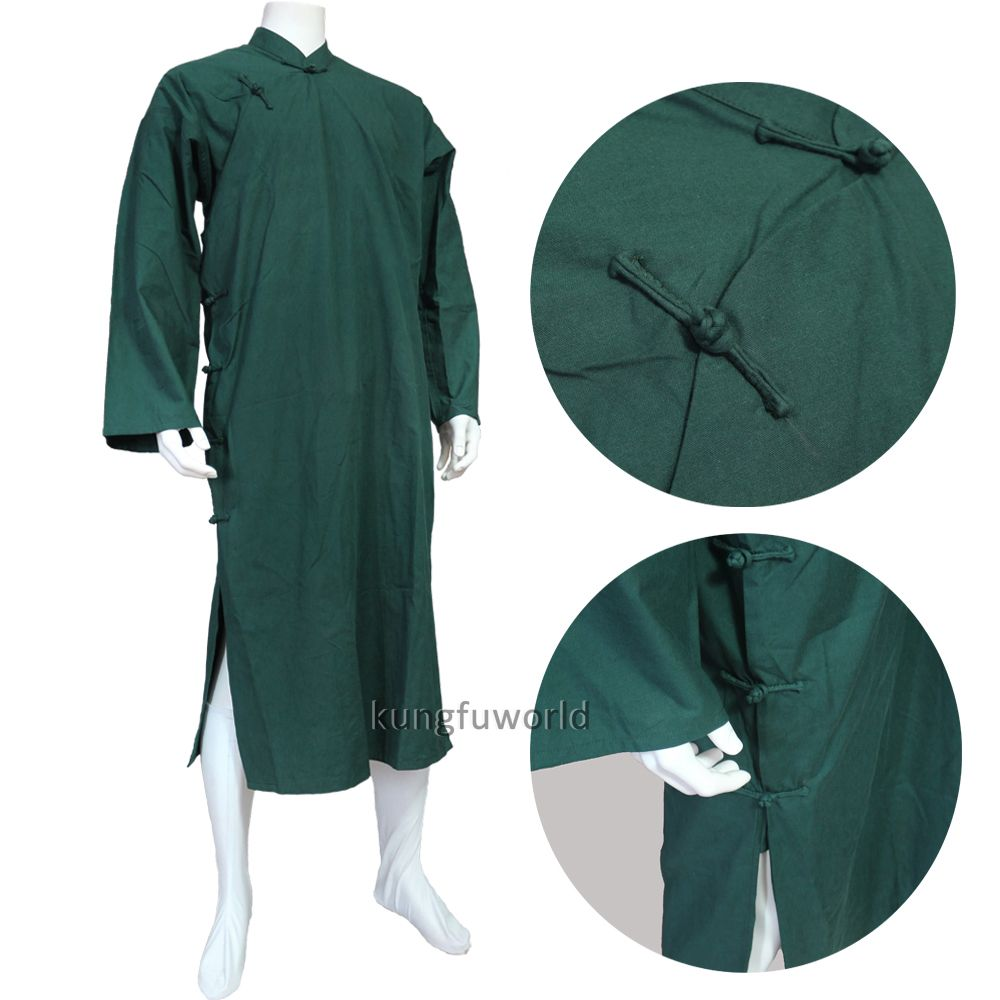9 Colors Cotton Wing Chun Ip Man Robe Wudang Taoist Shaolin Buddhist Monk Kung Fu Suit Tai Chi Uniform Mar Martial Arts Suits Men S Robes Martial Arts Clothing