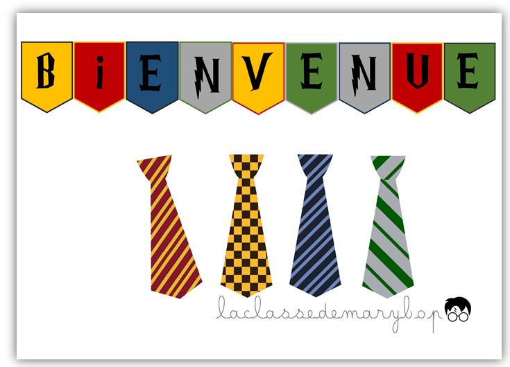 vente officielle Conception innovante nouvelles variétés Cravates Harry Potter et bannière de bienvenue | 2019/2020 ...
