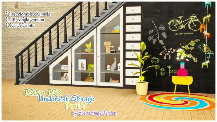 Ts2 To Ts3 Understair Storage Part 1 3 Sims 3 Downloads Cc