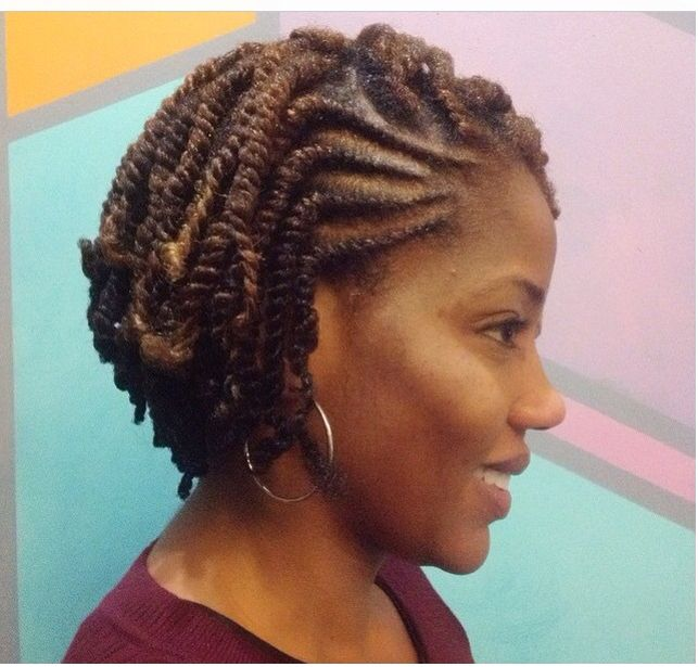 Twist Hairstyles She Used Flat Twists To Create Fabulous Summer Curls On Short