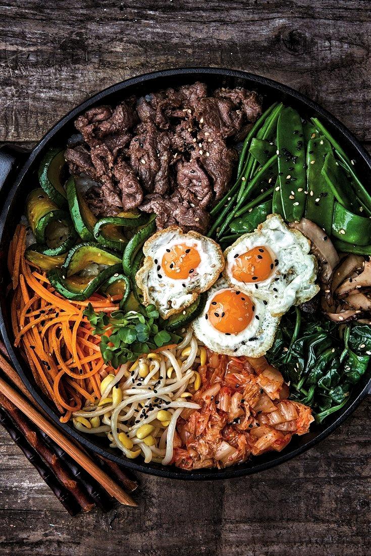 A Fantastic Collection Of Korean Recipes From A Hearty Bibimbap Recipe To Easy Beef Bulgogi Learn How To Make Kimchi Bibimbap Recipe Healthy Recipes Recipes