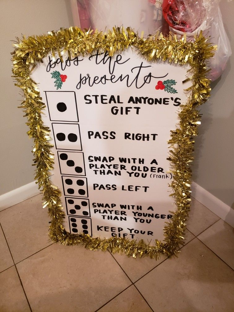 Roll the dice and pass the present Christmas game! Created