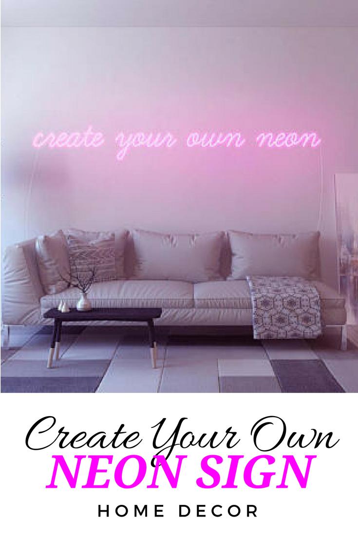 Custom Handmande Neon Light Signs For Your Living Room Bedroom
