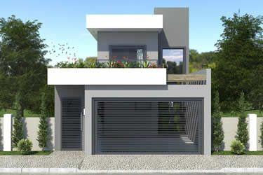 Plano de casa para terreno de 7x20 frente pinterest for Casa moderna 7x20