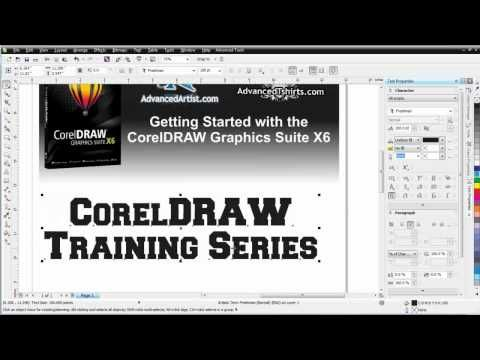 CorelDRAW X6 for working with text - YouTube | COREL DRAW