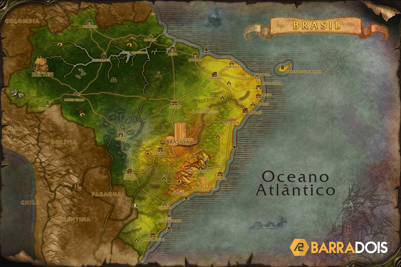 Map Of World Of Warcraft Brazil   World of Warcraft Map Style   World of warcraft map