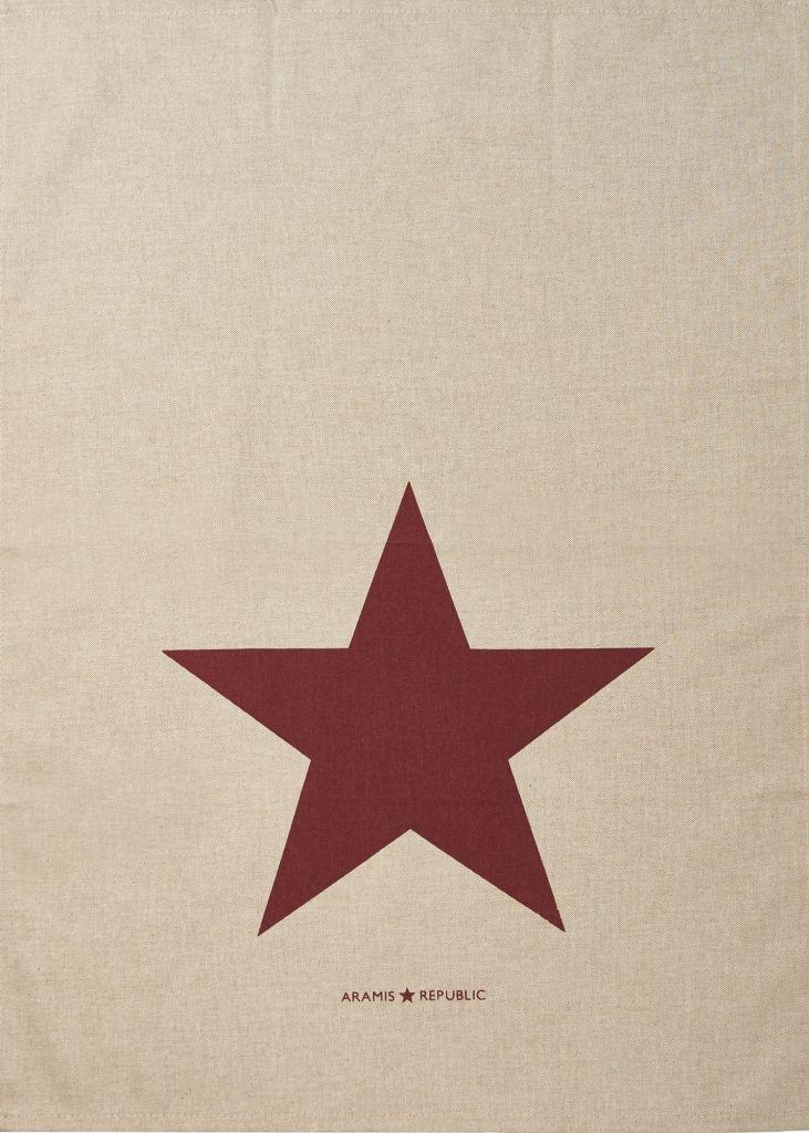 My Stylish Home - מגבת מטבח בז' כוכב אדום