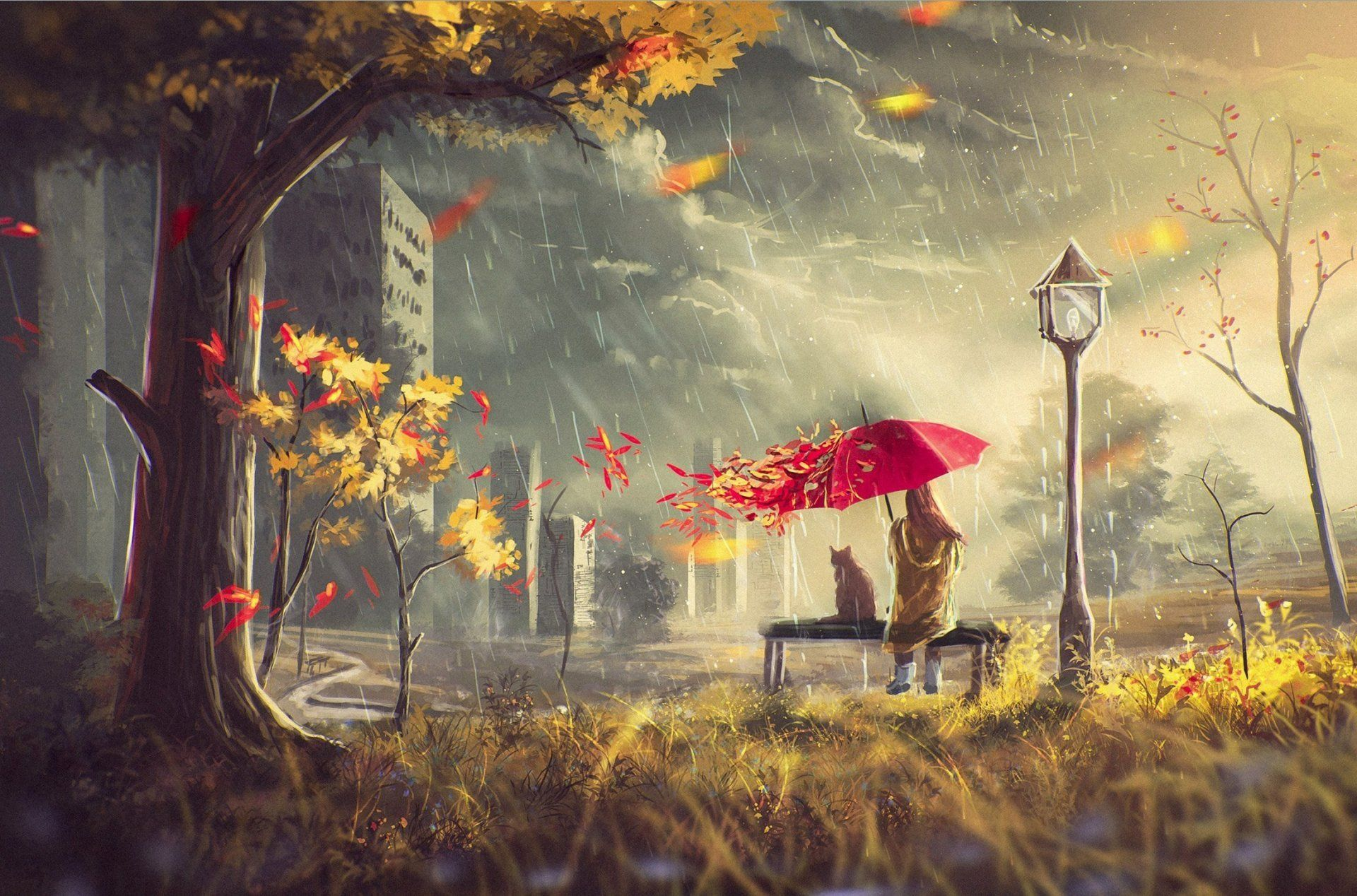 U Wallpapers Rainy Autumn Hd