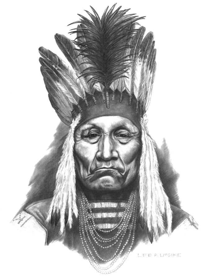 Blackfoot chief curly bear drawing chief curly bear by lee updike