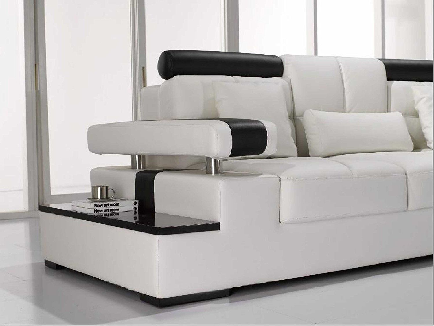 Vig Furniture T117 Modern White Leather