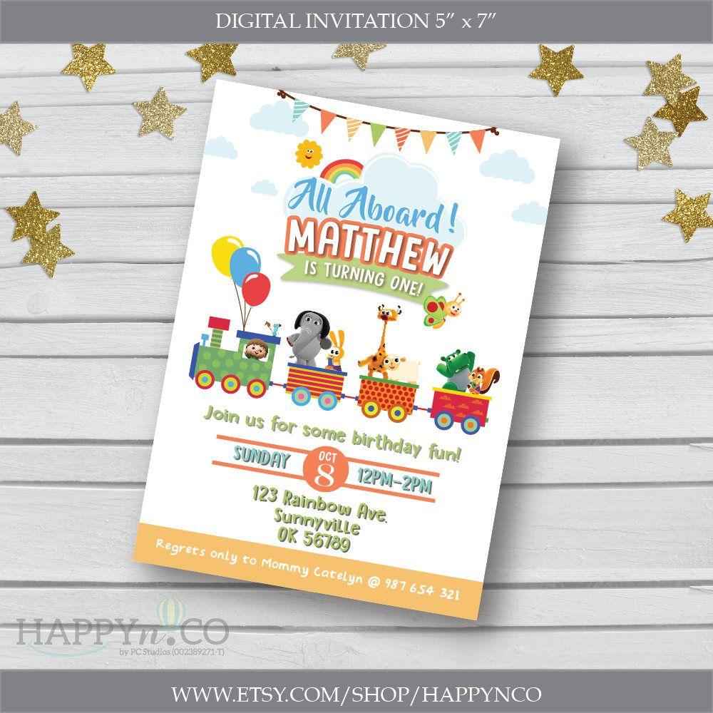 DIGITAL Baby TV Birthday Invitation BabyTV Party