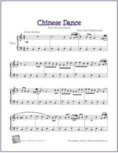 Chinese Dance Nutcracker With Images Piano Sheet Music
