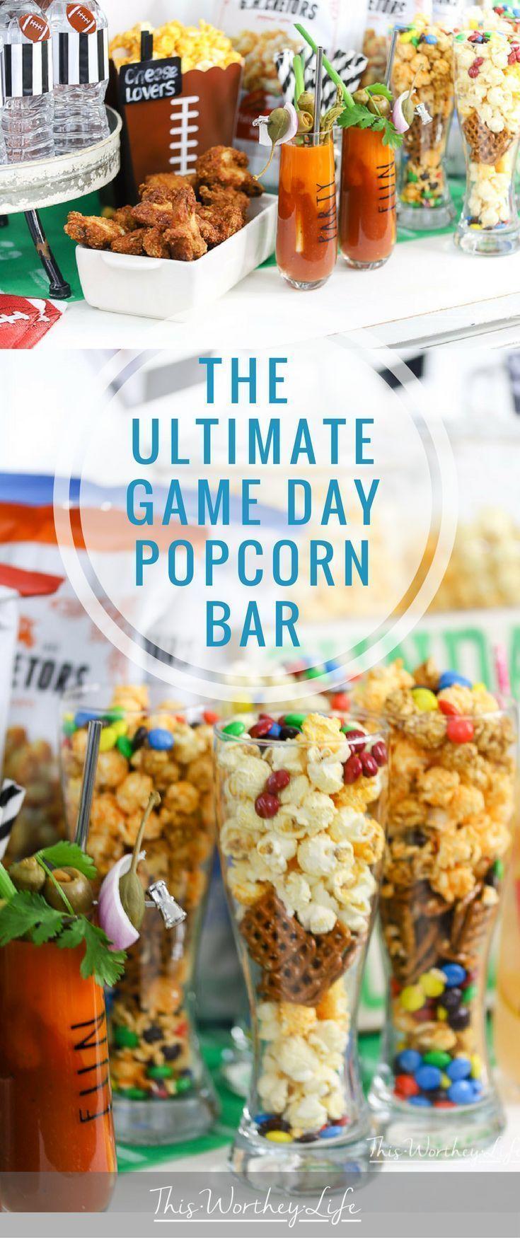 The Ultimate Popcorn Bar #footballfood