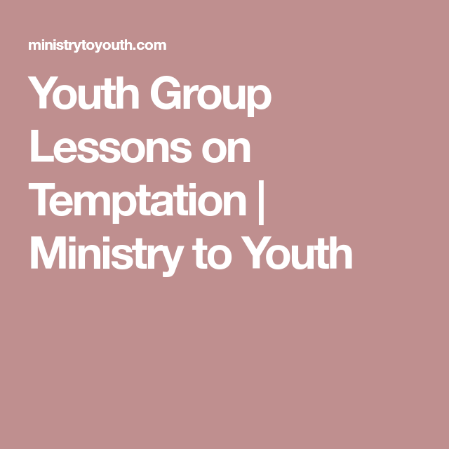 youth ministry lesson plans