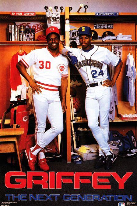 Ken Griffey Sr Ken Griffey Jr Design By The Costacos Brothers Cincinnati Reds Baseball Griffey Jr Sports