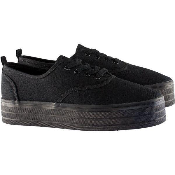 H\u0026M Platform sneakers ($9.20) ❤ liked