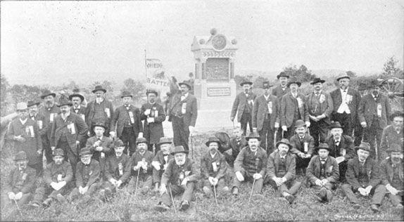 Some survivors of Wiedrachs Battery on E Cemetery Hill in 1889.