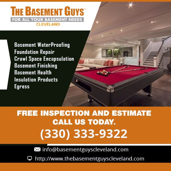 Charmant The Basement Guys® Cleveland Is The Only Full Service Basement  Waterproofing, Foundation Repair And Basement Company Serving All Of  Northern Ohio, ...