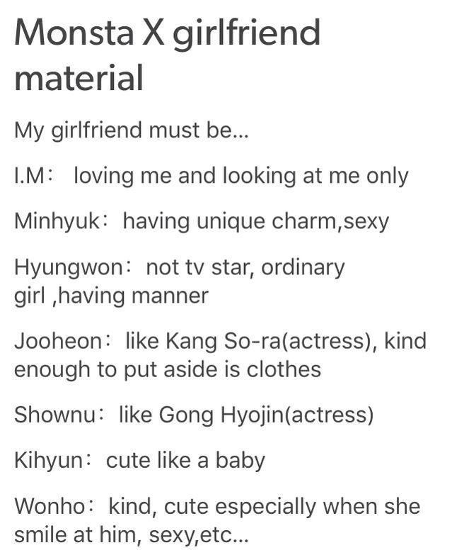Im Holla At A Girl Me As A Girlfriend Minhyuk Kihyun