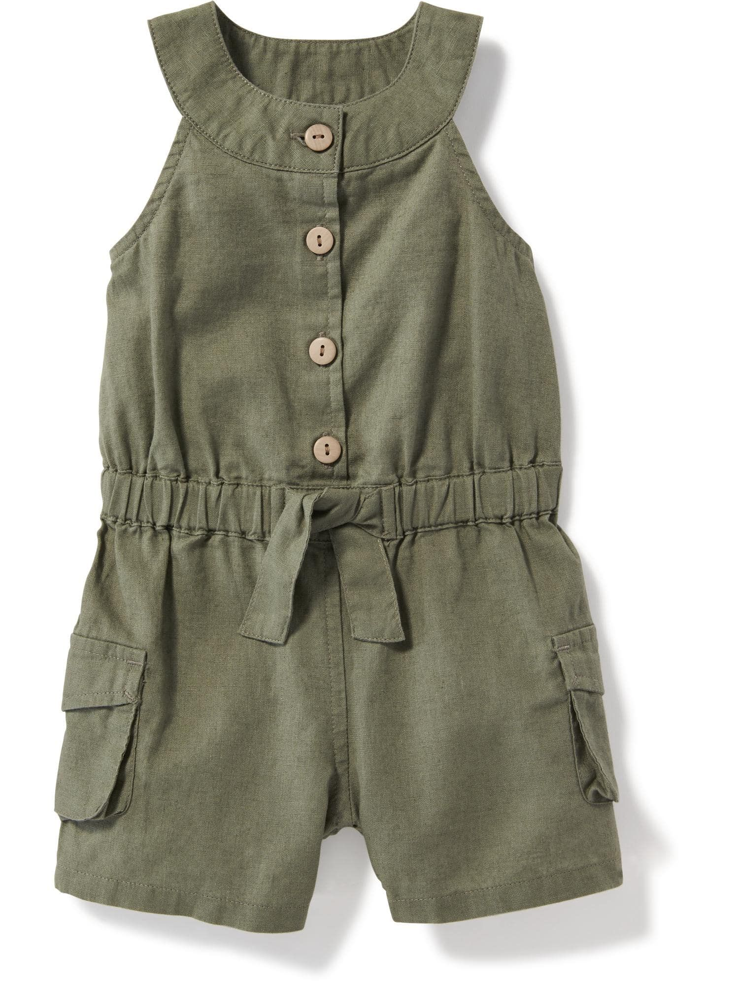 Sleeveless Utility Romper for Baby Old Navy