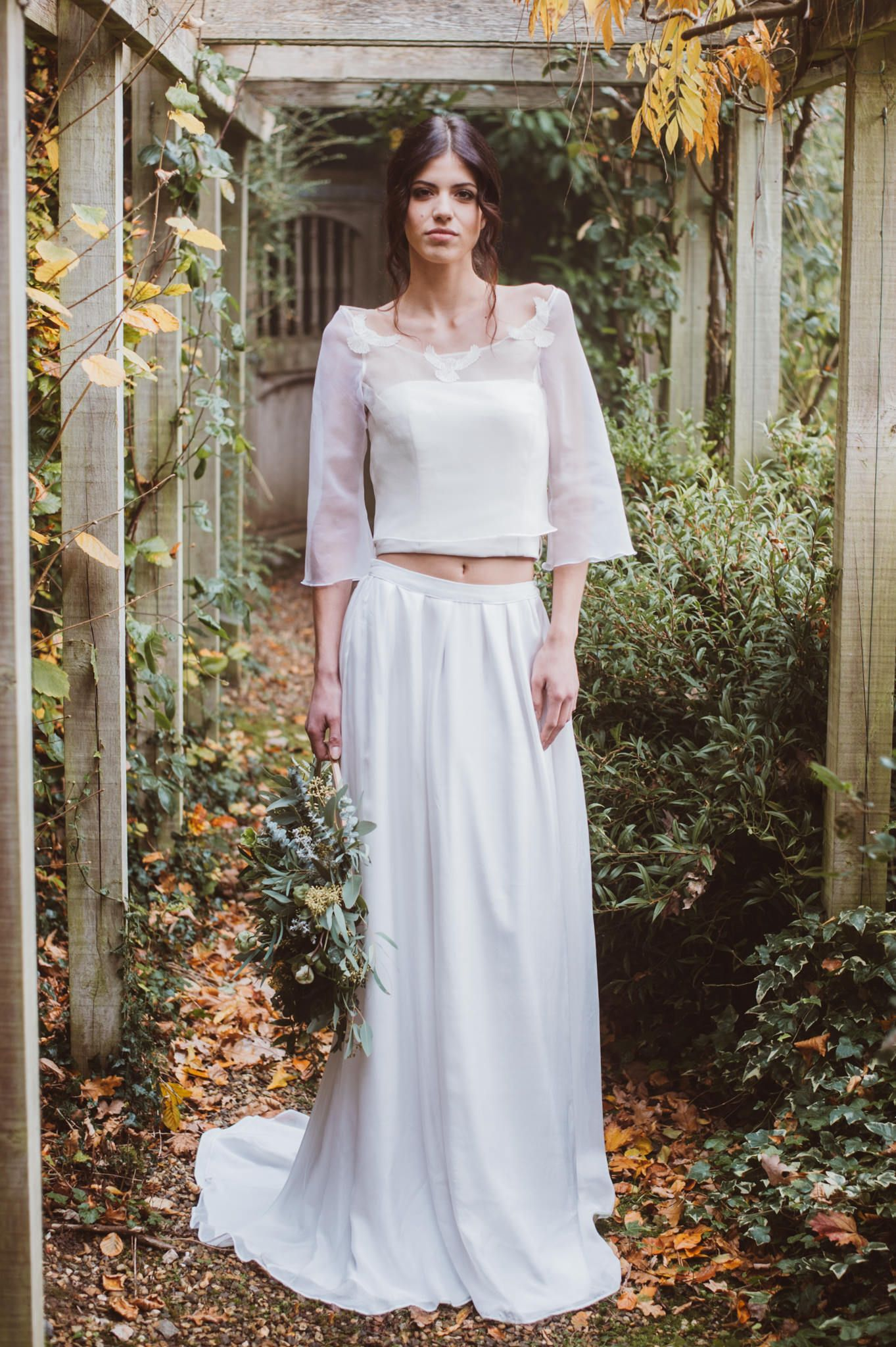 A subtle bohemian style wedding dress by jessica turner