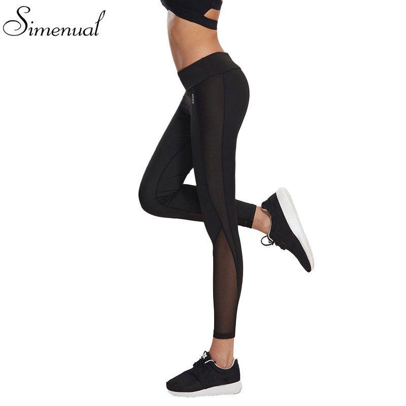 Mesh Splice Legging Kebugaran Celana Perempuan Pakaian Harajuku Athleisure Mendorong Ramping Up Leggin Leggings Are Not Pants Elastic Leggings Workout Leggings