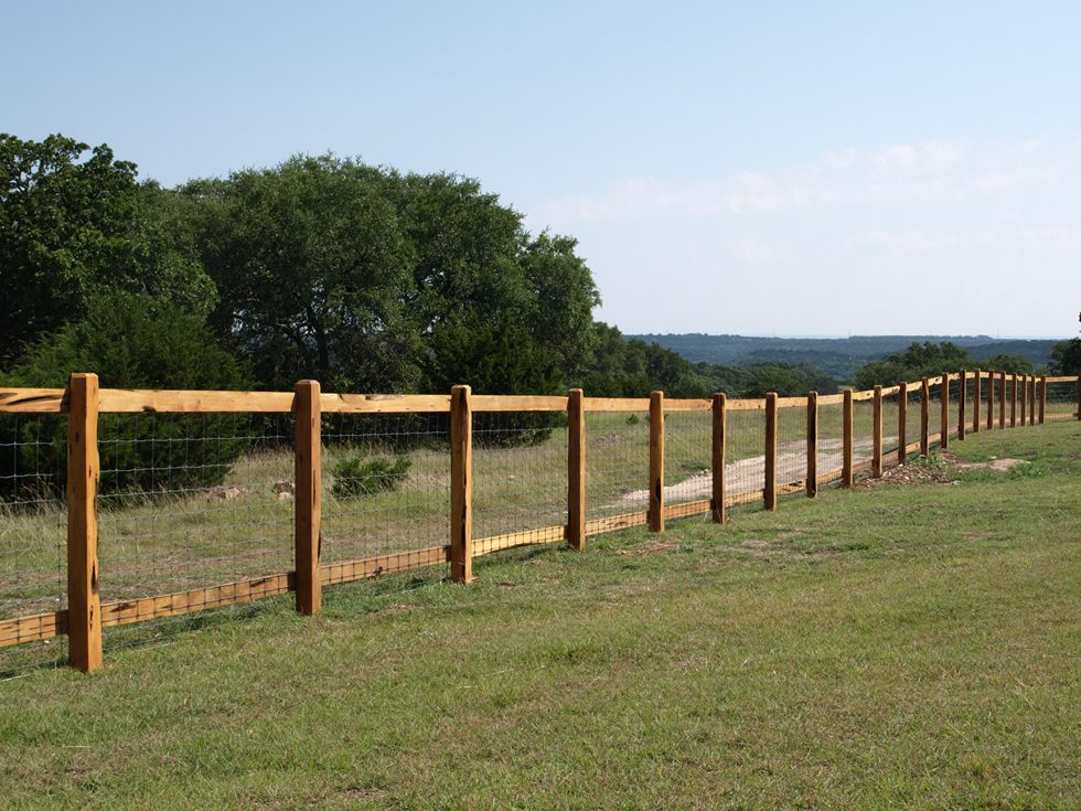 Ranch style wood fence designs from gates