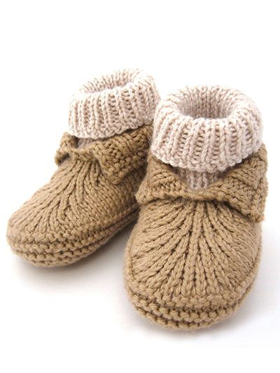 82a8cc6114331 Moc-a-Soc Knit Pattern | Baby Ramos | Baby knitting, Knitted booties ...