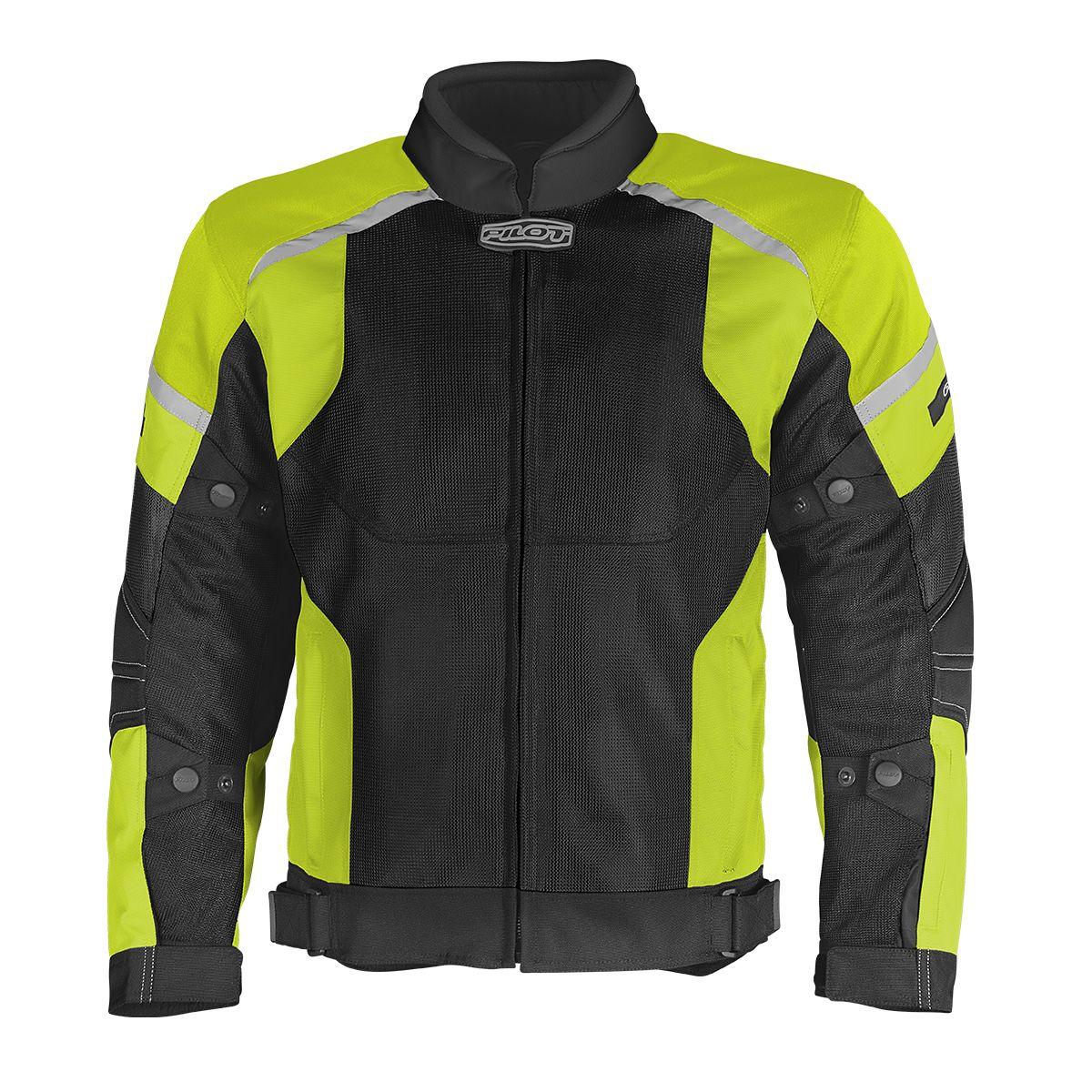 Direct Air Jacket Black/HiVis Yellow Suzuki Motor of
