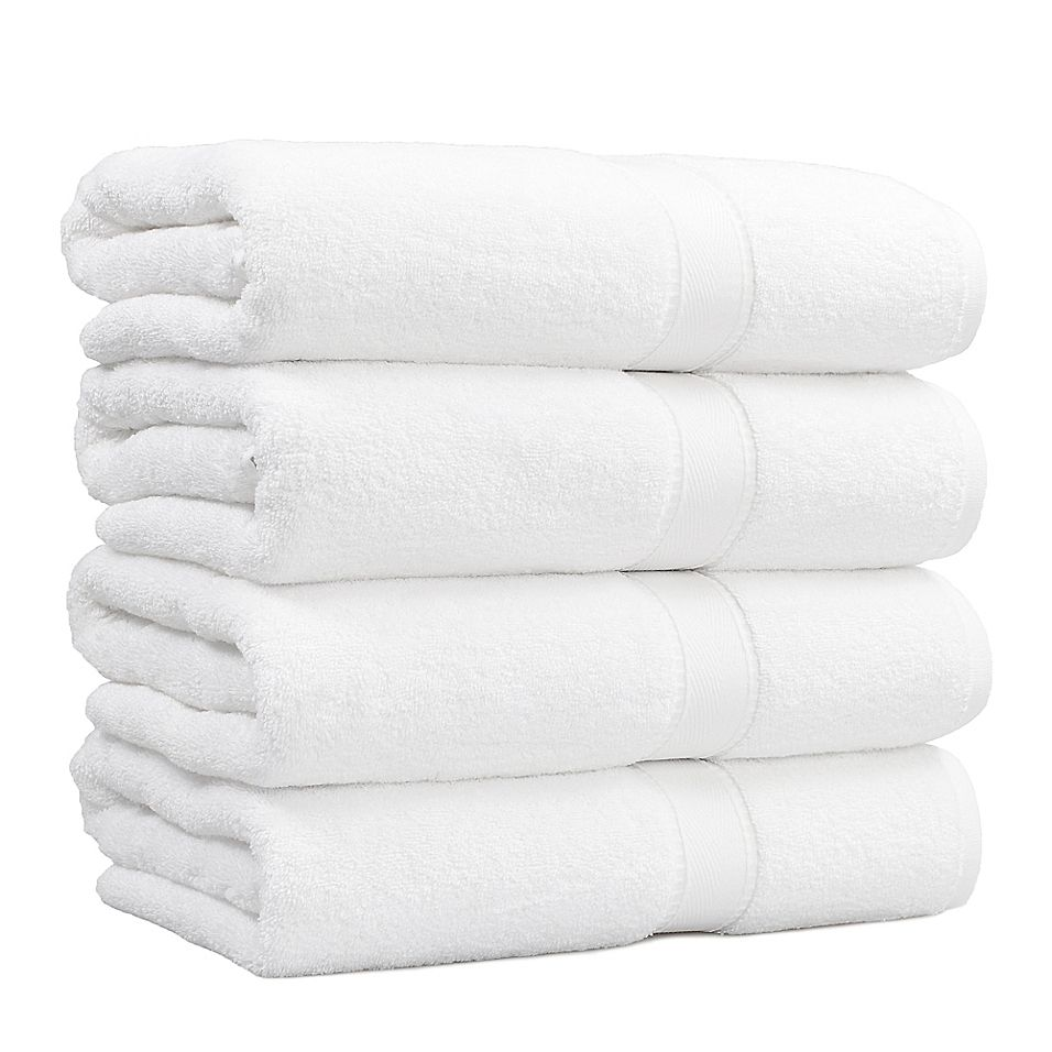 Linum Home Textiles Terry Bath Towel In White Set Of 4 Towel