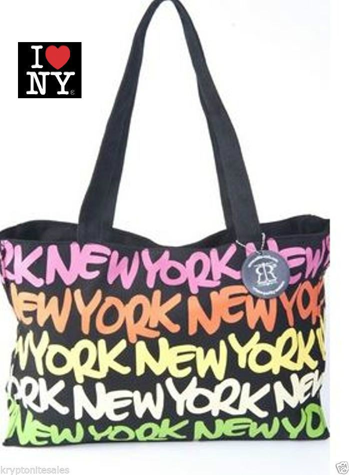 a622d263642d Robin Ruth NY New York Neon Rainbow multi color Designer Fashion Carry Tote  Bag ... Robin Ruth Original Tote See us on Instagram user  robinruthny