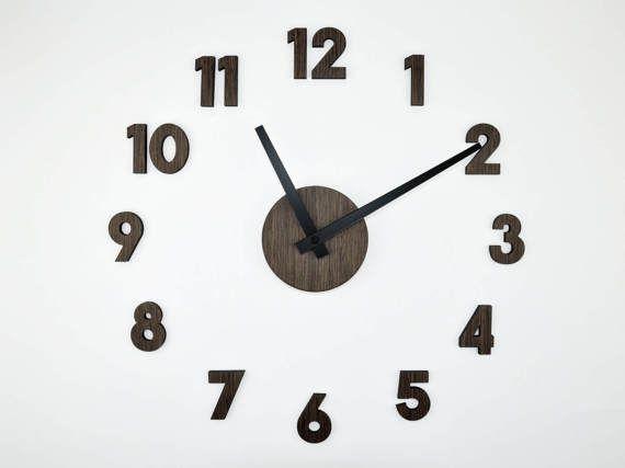 Oversized wall clock 40 60 cm 16 20inch modern wooden clock